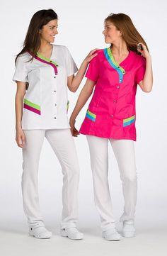 Comprar Casaca Manga Corta Colores barato online de Lacla en MOBELKIDS por sólo 23,55 € Spa Uniform, Kurta Style, Lab Coats, Nurse Costume, Nursing Clothes, Dentistry, Scrubs, Look, Couture