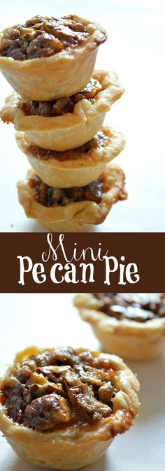 These Pecan Pies might look small, but they pack a BIG pecan pie taste!: These Pecan Pies might look small, but they pack a BIG pecan pie taste! Mini Desserts, Holiday Desserts, Holiday Baking, Christmas Baking, Just Desserts, Holiday Recipes, Delicious Desserts, Small Desserts, Wedding Desserts