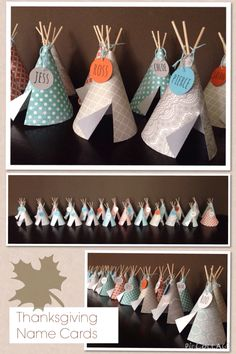 Tipi Thanksgiving Name Cards -m.fisher