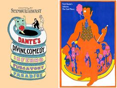 Left: Seymour Chwast, Divine Comedy, Bloomsbury, 2010. Right: Seymour Chwast, The Push Pin Graphic No. 52, 1967
