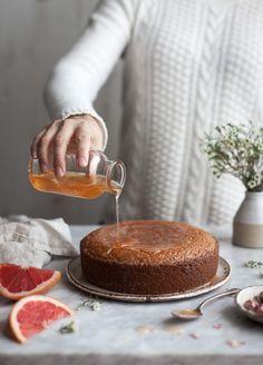 Semolina Cake + Rose & Grapefruit Syrup - The Kitchen McCabe