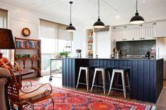 Kitchen brekkie bar. From NZHouse&Garden