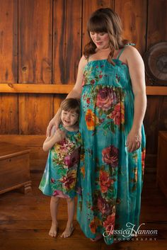 Mommy Baby Matching Summer Dress made From D4 Fabric Pattern