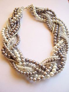 Ruffled® | See ads - Braided, Twisted, Chunky Statement Pearl Necklace/Bracelet - Fashion