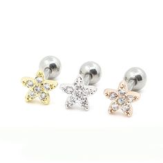 Find More Body Jewelry Information about 2PCS/Lot 3 color 6mm Length Flower Tragus Eearring Helix Cartilage Lip Labret Piercing Ring,Fashion Jewelry For Women,High Quality ring spacer jewelry,China jewelry connector Suppliers, Cheap ring jewelry organizer from DreamFire Store on Aliexpress.com