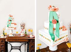 The Tablescape and other details are great for a sewing party as well as cute as a button baby shower