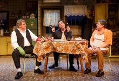 A genial, but heavy handed comedy of mob violence, cannibalism and coy gaiety.  By Joel Benjamin  Enjoying Dinner with the Boys, the new comedy by Dan Lauria,...