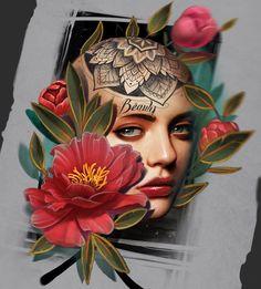 Bull Tattoos, Life Tattoos, Tattoos For Guys, Mago Tattoo, I Tattoo, Design Tattoo, Tattoo Designs, Tattoo Studio, Tatoo Flowers