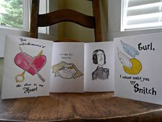 Harry PotterInspired Card Collection by EmsieArt on Etsy, $10.00