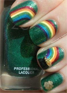 St Patrick's nails