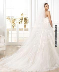 Pronovias 2014 collection is beyond gorgeous. | CHECK OUT MORE IDEAS AT WEDDINGPINS.NET | #weddingfashion