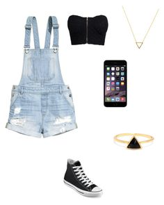 """""""Untitled #24"""" by msarayha ❤ liked on Polyvore featuring H&M, NLY Trend, Converse and Wanderlust + Co"""