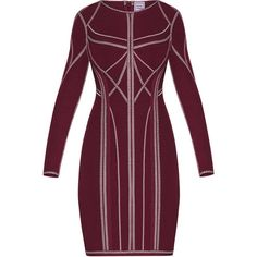 Herve Leger Elaina Metallic Jacquard Dress ($1,840) ❤ liked on Polyvore featuring dresses, holiday dresses, bodycon bandage dress, bodycon dress, special occasion dresses and metallic jacquard dress