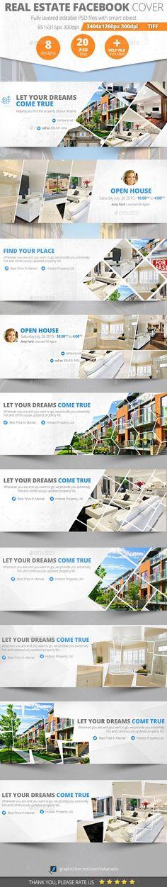 Real Estate Facebook Cover - Facebook Timeline Covers Social Media #realestateagenttips