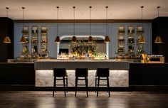 Intercontinental Hotel Double Bay, Sydney . Lighting Design by Electrolight . Interior design by Bates Smart