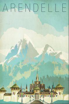 """Frozen"" travel posters"