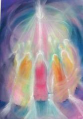 Pinksteren - Self and Community ~ Pentacost. Art Prophétique, Journal D'art, Art Visionnaire, Prophetic Art, Spirited Art, Biblical Art, Visionary Art, Angel Art, Sacred Art