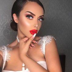 "The perfect red   wearing @colourpopcosmetics @iluvsarahii ""Arriba"" on my lips❤️  •  #motd#lotd#makeup#colourpop#iluvsarahii#love#pretty#redlips#mua#glam#look#beauty#potd"