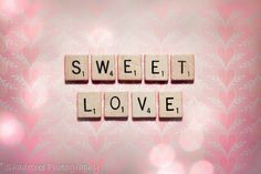 Sweet Love Shabby Chic Scrabble Tile Art by ShadetreePhotography,