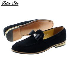 96d4817acb4a Brand New Men Genuine Leather Flats Man Casual Shoes Loafers Cow Suede  Leather Weddng Party Black