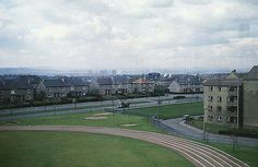 Edinburgh Road and the Clyde Valley from Cranhill, Glasgow. (1966) Picture: Phillip Capper.