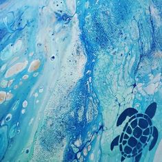 "Treasures By The Sea on Instagram: ""Love this turtle pour 😍 Instagram.com/SeaPaints 👈🏼 #art #artist #drawing #artwork #love #photography #painting #illustration…"""