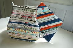 Selvage pouches Pattern Making, Coin Purse, Quilts, Wallet, Fabric, How To Make, Cotton, Pouches, Fle