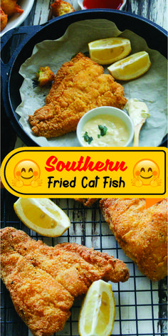 Southern Fried Cat Fish- Classic Southern Fried Catfish dipped in buttermilk and breaded in spicy seasoned cornmeal and fried to perfection. Pan Fried Catfish, Fried Catfish Recipes, Southern Fried Catfish, Breaded Fish Recipe, Fish Batter Recipe, Fish Fry Mix Recipe, Best Fried Fish Recipe, Fish Breading, Fish Fry Breading Recipe