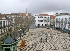 "Angra do Heroísmo, Terceira Island, Azores, Portugal - Travel Photos by Galen R Frysinger, Sheboygan, Wisconsin (praca velha;"" the plaza square """