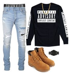 """""""Im Not No Girly Girl """" by munchiiee on Polyvore featuring Calvin Klein Underwear, Balmain, Urban Outfitters, Timberland, Bling Jewelry, Michael Kors, men's fashion and menswear"""
