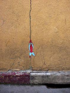 Art de rue très creatif en France par OaKoAk