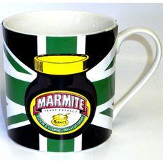 Marmite: Marmite Union Jack Green Mug Yellow Mugs, Green Mugs, Marmite On Toast, Jack Green, Mug Holder, Red Mug, Porcelain Mugs, Union Jack, Mug Cup