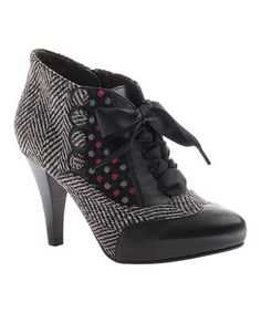 Look what I found on #zulily! Black Betsey's Buttons Bootie by Poetic Licence #zulilyfinds