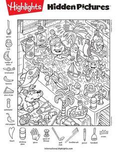 Hidden Picture Games, Hidden Picture Puzzles, Alphabet Worksheets, Preschool Worksheets, Preschool Activities, Hidden Object Puzzles, Hidden Objects, Too Cool For School, School Fun