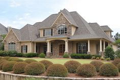 Traditional Style House Plan - 5 Beds 4.5 Baths 3187 Sq/Ft Plan #437-56 Front Elevation - Houseplans.com