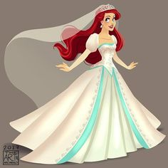 Okay I decided to add @prince.eric9889 Disney Princess Trio Wedding Dresses to be part of my Trinity. The amazing work Laz put into the dresses is just hard to pass specially when I first saw his Snow White. Hope you guys like my rendition . . . . #TheLittleMermaid #PrincessAriel #Ariel #ArielMermaid #ArielWedding #DisneyPrincess #DisneyMermaid #archibaldart
