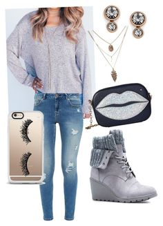 """""""The Pullover"""" by danielle-decarlo on Polyvore featuring Ted Baker, JustFab, Charlotte Olympia, FOSSIL and Casetify"""