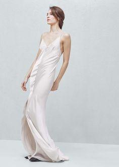 MANGO Premium - Cut-Out Silk Dress - $249.99