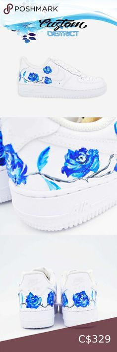 Nike Air Force blue flower Nike Air Force 1 Custom 'Flower' Available in all sizes for Men and Women.    For Womens sizes subtract 1.5 from your current size and select it, for example:  All of our designs are handmade and made to order, we manage our orders professionally and use original high quality sneakers. Please allow up to 10 business day for your order to get processed. Nike Shoes Sneakers Air Force Blue, Nike Air Force, Nike Shoes, Shoes Sneakers, Plus Fashion, Fashion Tips, Fashion Trends, Blue Flowers, Nike Women