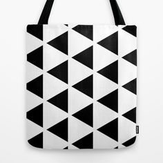 Sleyer Black on White Pattern Tote Bag by Stoflab - $22.00