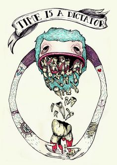 Time is a Dictator... by anna kontonikola, via Behance
