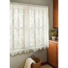 Heritage Lace Semi Opaque Bee 45 In L Polyester Valance . Heritage Lace Semi Opaque Bee 45 In L Polyester Valance . Heritage Lace Semi Opaque Bee 45 In L Polyester Valance . Home and Family Lace Curtain Panels, Boho Curtains, Floral Curtains, White Curtains, Short Curtains, Window Curtains, Roman Curtains, Patterned Curtains, Layered Curtains