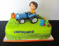 Doces Opções: O Francisco e o seu trator Biscuits, Cake, Design, 4 Years, Food Cakes, Agriculture, Birthday, Cookies, Pie Cake