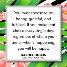 Rachel Hollis Girl, Wash Your Face Motivational Thoughts, Uplifting Quotes, Positive Quotes, Motivational Quotes, Inspirational Quotes, Gratitude Quotes, Positive Life, Girl Quotes, Book Quotes