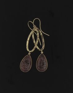 Pure Stone Collection: gold rings with rose drop shaped tourmaline  #elajoyas, #jewelry, #gold