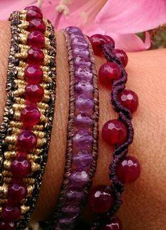 Macrame set alternative design boho chic bracelets