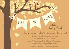 Fall In Love Baby Shower Invitation By Butlerpaperandprint On Etsy 1 75