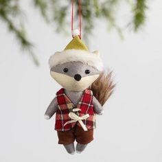 One of my favorite discoveries at WorldMarket.com: Fabric Fox Ornaments Set of 2
