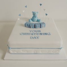 Image result for simple boys christening cake