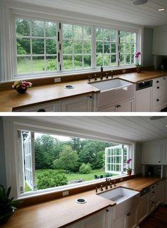 Großes Küchenfenster